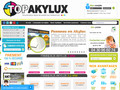 E-COMMERCE : Topakylux, impression de panneaux akilux