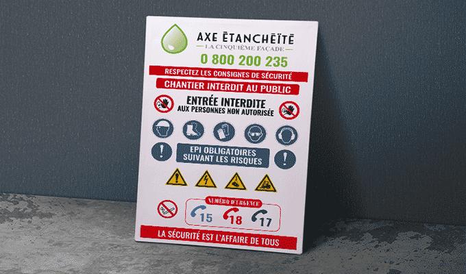 Panneau de chantier epi (équipement de protection individuelle)