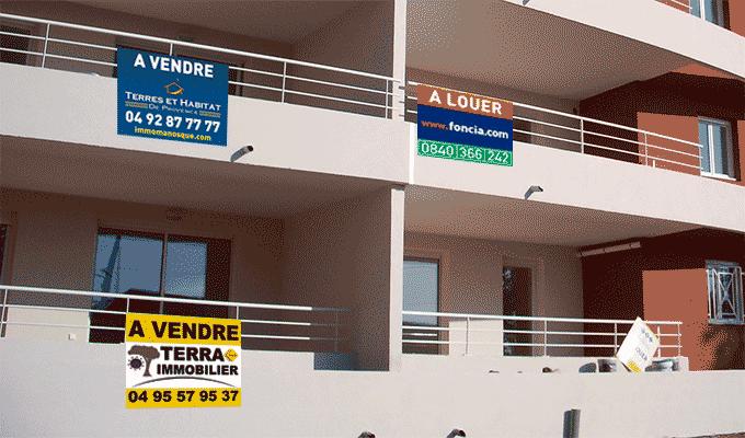 Panneau immobilier pas cher