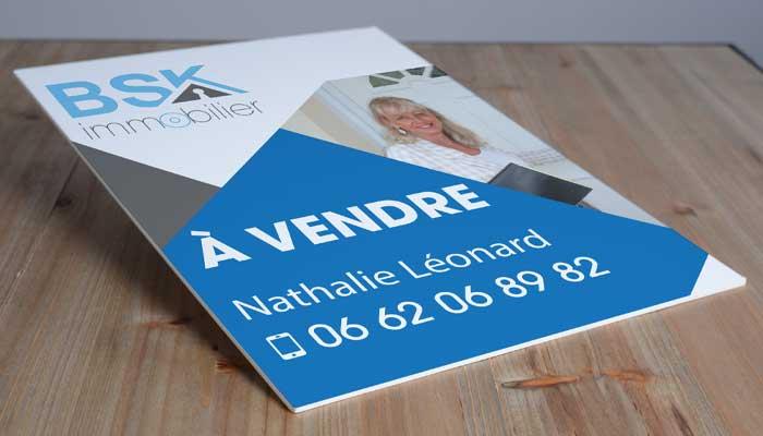 Panneau immobilier personnalisable en akilux à vendre/vendu