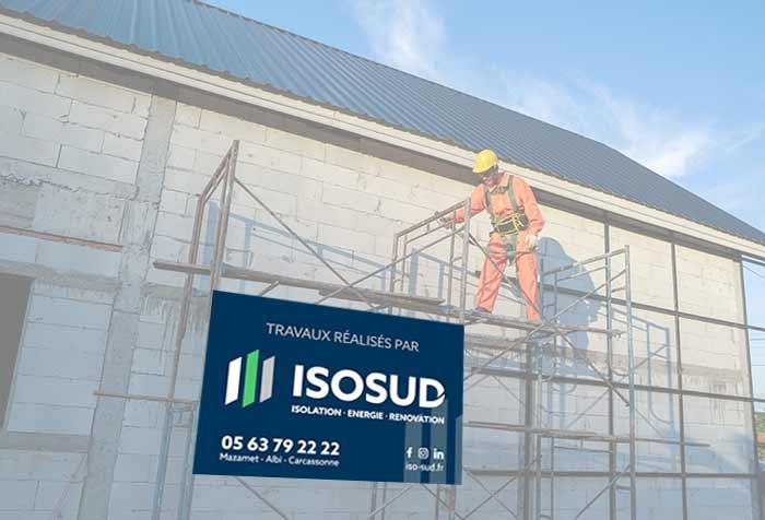 Panneau akylux publicitaire pour chantier de contruction en 120x80cm
