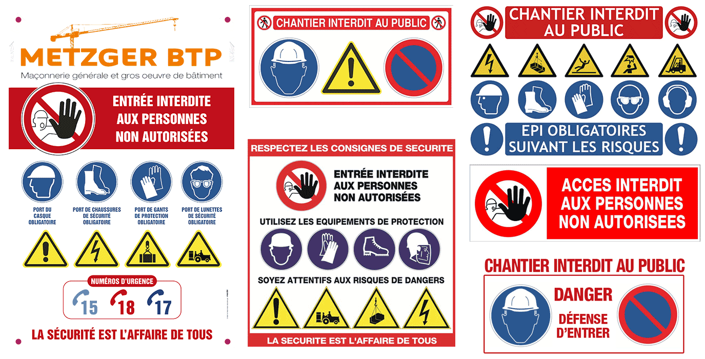 Panneau securite prevention et obligation EPI